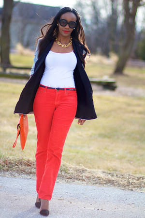 JCrew pants - robert rodriguez jacket - asos bag - Zara pumps - ann taylor top