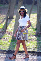 Willow & Clay skirt - asos sunglasses - J-Crew top - Nara sandals