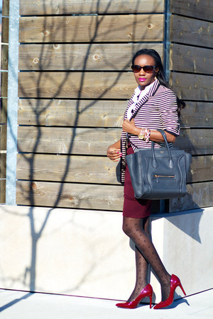 Celine bag - Elizabeth James blazer - f21 skirt - Jessica Simpson pumps