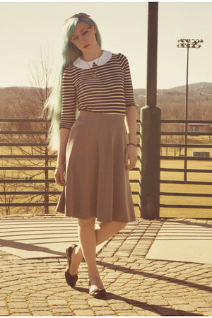modcloth skirt - modcloth blouse - Payless flats