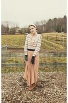 handmade skirt - modcloth boots - Target sweater