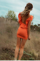 light orange Justyna G dress