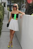 black Prada sunglasses - chartreuse Justyna G dress