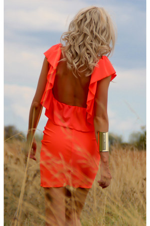 carrot orange Justyna G dress