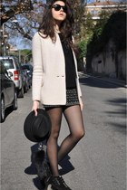 dark green Borsalino hat - cream Peresteso jacket - black Celine sunglasses