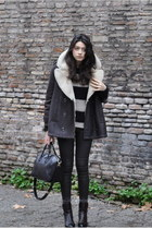 black Givenchy bag - beige Bershka sweater - dark brown Zara pants