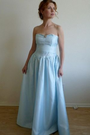 Vintage Sky Blue Sweetheart Strapless Party Wedding Dress dress