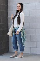 Topshop shirt - asos jeans - Alexander Wang bag - Valentino flats - Zara blouse