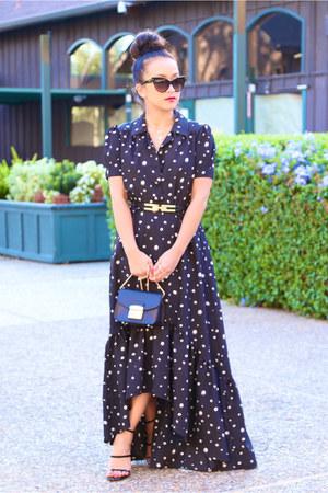 ABS allen schwartz dress - Topshop heels