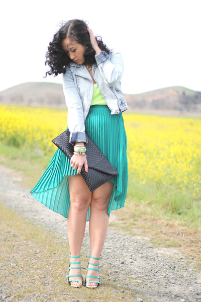 Zara skirt - H&M jacket - strappy sandals Zara sandals