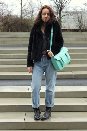 Edel&Stark bag - united colors of benetton coat - Levis jeans
