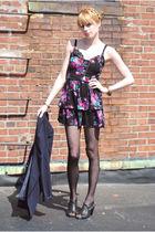 Forever 21 dress - Forever 21 shoes - vintage intimate - blazer