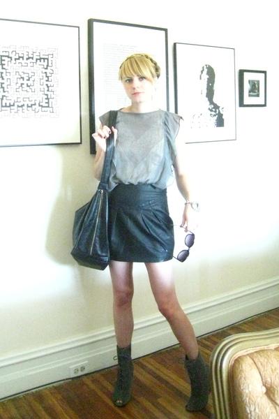 Forever 21 skirt - vintage sunglasses - intimate - Target blouse - H&M purse - U