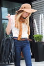 Nine-west-shoes-h-m-scarf-forever-21-blouse-forever-21-jeans-vintage-hat