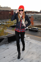 hat - Forever 21 pants - Forever 21 boots - H&M jacket - thirfed scarf