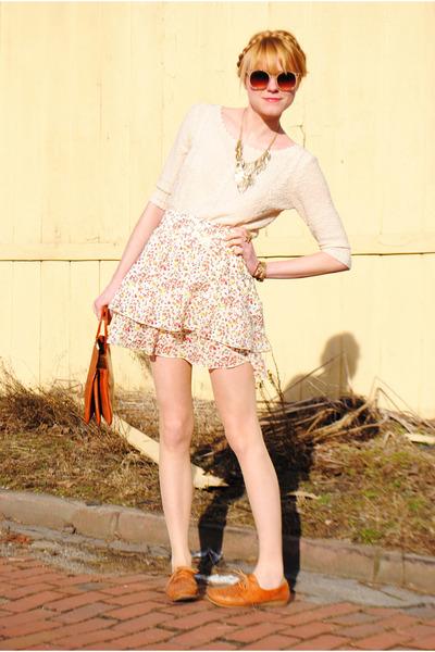 Dexter shoes - skirt - vintage sweater - H&M jacket - Forever 21 necklace - vint