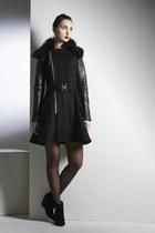 Soul Love Coat- Wool Leather Fur Zipper Coat