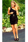 Black-forever21-dress-black-forever21-belt-black-steve-madden-shoes