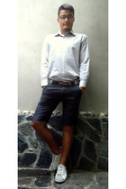 dark gray WPM pants - off white kec Di Guan shoes