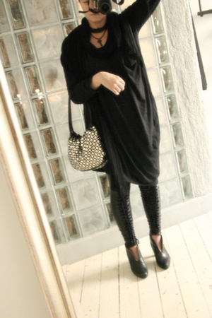 2or dress - GINA TRICOT leggings - H&M scarf - Sonia Rykiel purse - vagabond sho