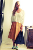 leather second hand skirt - doc martens shoes - MM6 Martin Margiela bag