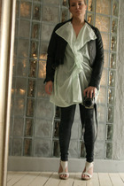 2or dress - Ellos jacket - Gina Trickot leggings - Sixtyseven shoes