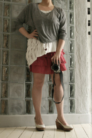 American Apparel sweater - DIY t-shirt - H&amp;M skirt - Topshop shoes