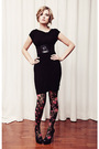 Black-fluxus-dress-h-m-tights-black-aldo-shoes-black-jacob-belt-brown-bb