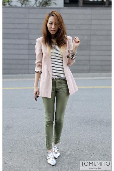 light pink silk boyfriend asos blazer - white menswear sweater