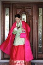 unknown dress - unknown coat