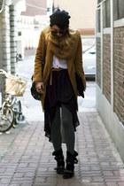 black asymmetrical Forever21 skirt - black Modern Vintage boots