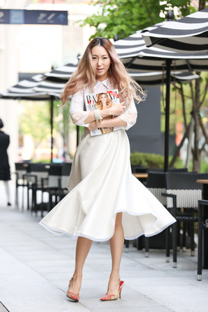 white lace Yuna Yang blouse - ivory Yuna Yang dress