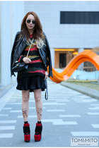 black leather jacket Miss Sixty jacket - ruby red Miss Sixty sweater