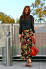 Black-romeo-and-juliet-couture-dress-red-jennie-cailyn-purse-ruby-red-vint