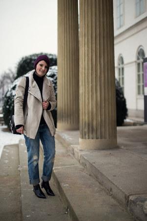 ivory Promod jacket - black Zara shoes - blue Tally Weijl jeans - black Zara bag
