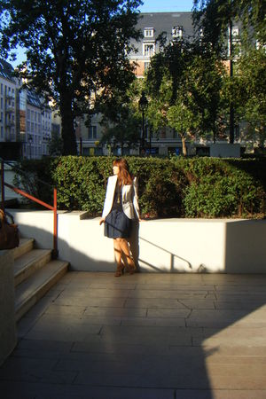 Mango top - Zara jacket - Ray Ban sunglasses - Kookai skirt - Andree accessories