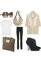 jil sandler sunglasses - 7 for all manking pants - brian atwood shoes - Marc by