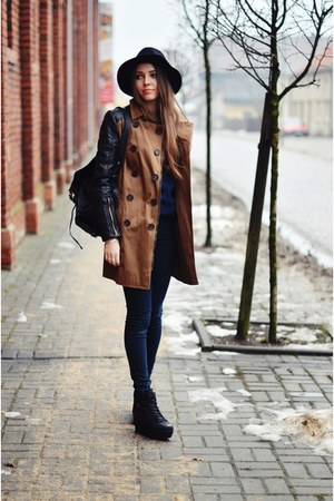 Stradivarius coat - Zara hat