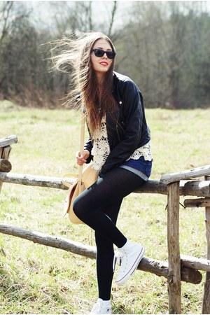 H&M jacket - ray-ban sunglasses - Converse sneakers