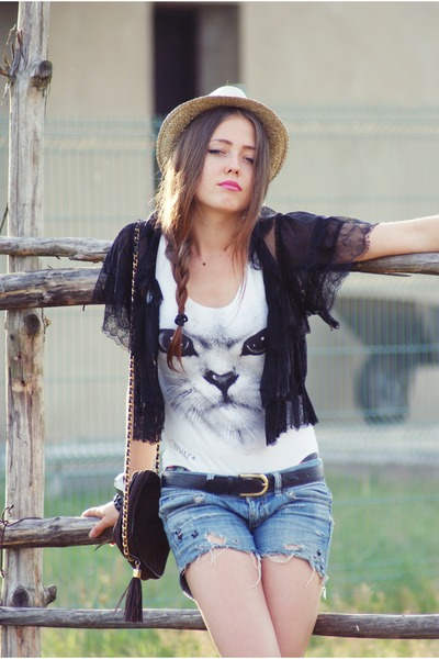 Primark vest - hat - Bershka shorts - c&a