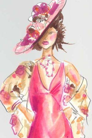 hat - necklace - dress