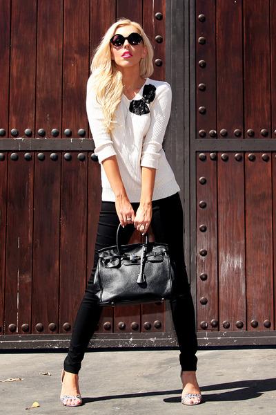 black Im Haute bag - bow Im Haute sweater - circle Im Haut sunglasses