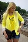 Yellow-indressme-blazer-black-asos-bag-blue-sheinside-shorts