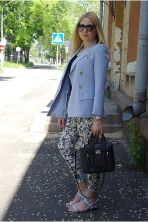 light blue Frontrowshop blazer - black persun bag - white Frontrowshop bracelet
