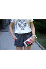 Black-sheinside-shorts-black-urbanog-heels-white-sheinside-blouse