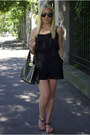 Black-tbdress-bag-black-rosewholesale-sandals-black-sheinside-romper