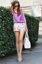 Zaea shorts - Gillian bag - Fabi sandals - Orwell top