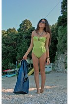 lime green H&M swimwear