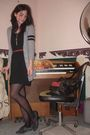 Gray-from-zellers-cardigan-black-hand-me-down-dress-gray-gomax-shoes-black
