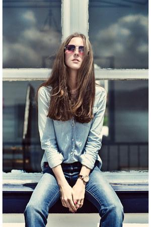 blue denim Lee Cooper jeans